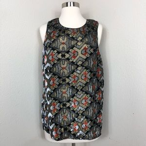 Anthro Meadow Rue Print Top